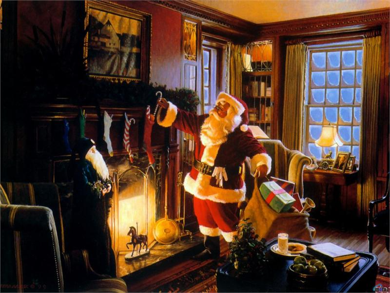 christmas traditional old fashioned pictures